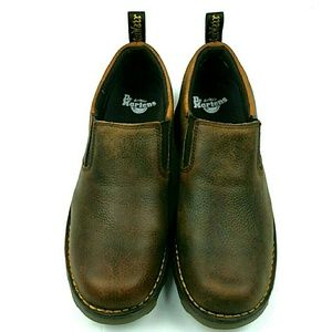 Dr. Martens Maclean Low Top Brown Leather Boots